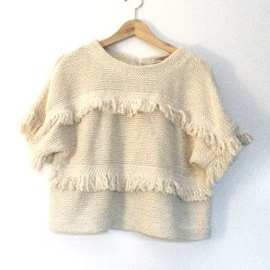 Forever 21 Knit Boho Sweater Top Size Small